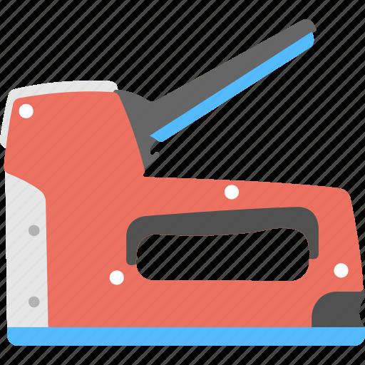 handheld machine, manual staple gun, powered stapler, staple gun, trigger tacker icon