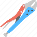 bolt cropper, bolt cutter, chain cutter, electrician tool, plumbing equipment icon