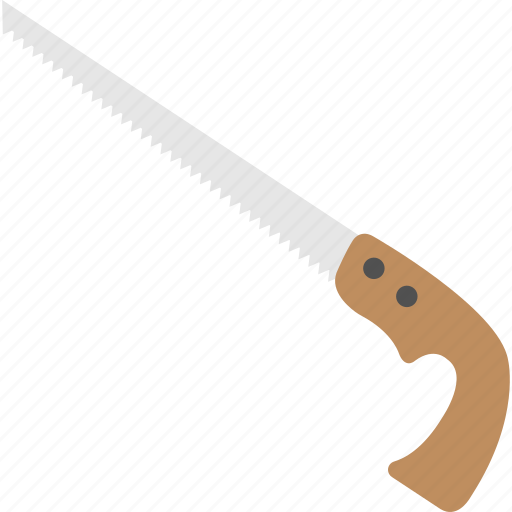carpentry tool, crosscut saw, hand saw, hand tool, wood cutter icon