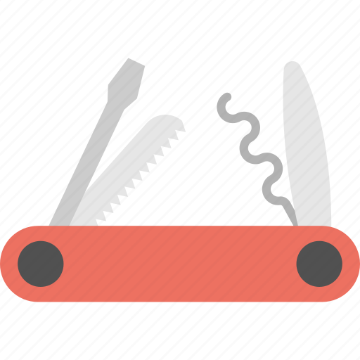army knife, camping knife, multi-purpose knife, pocket knife, swiss folding knife icon