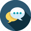 chat, equipment, mail, message, talk, tool icon