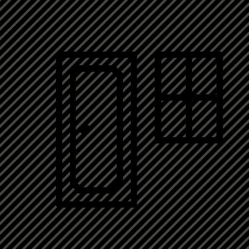 carpenter, diy, door, implement, tool, window, work icon