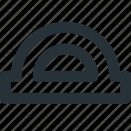 angles, measuring, precision, protractor, technical icon