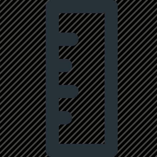 measuring, metrics, precision, ruler, technical icon