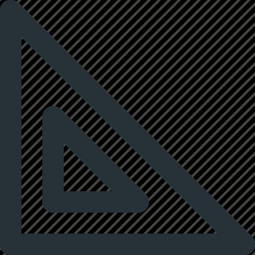measuring, metrics, ruler, square, tool icon