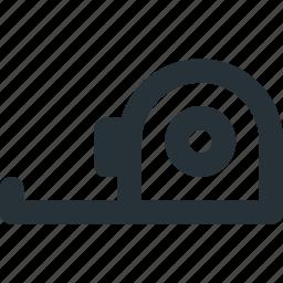 construction, measuring, metrics, tape, tool icon
