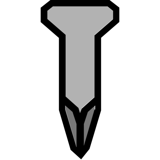 nail, short, tools icon