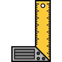 corner, measurement, ruler, tools icon