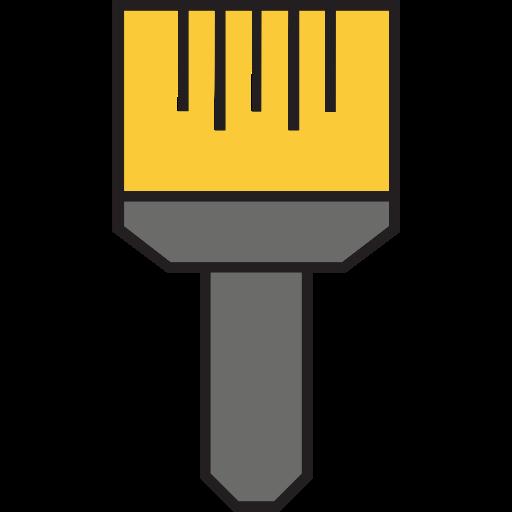 art, brush, house repair, paint, painting, tools, utensils icon
