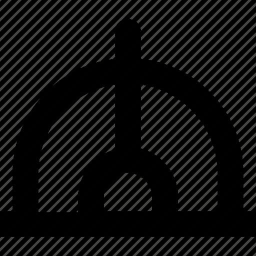 degree tool, geometry, measurement, protractor icon