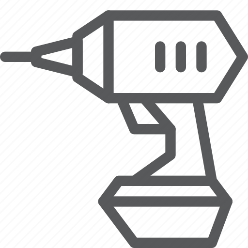 construction, drill, equipment, handdrill, machine, repair, tool icon