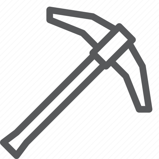 construction, mine, pickaxe, picking, stone, tool icon