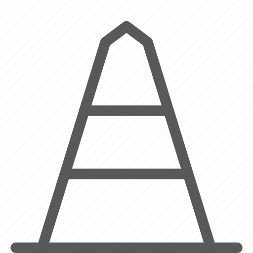 attention, cone, construction, tool, traffic, vlc, warning icon