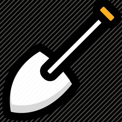 engineering, engineering project, project, shovel, undertaking icon