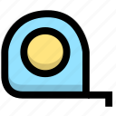 design, measure, size, tape, tool icon