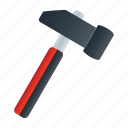 construction, hammer, tool, tools, work icon
