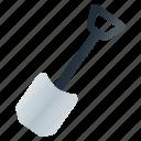 construction, digging, edging, planting, spade, tool icon