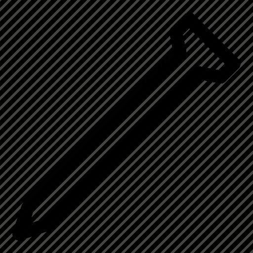 hobnail, nail, pin, repair, spike, tools icon