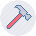 carpentry, construction, diy, hammer, instrument, repair, tool icon
