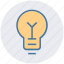 bulb, electric lamp, light, light bulb, light emitting diode, power station icon
