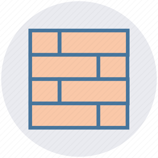bricks, building material, construction, construction work, exterior, housing, wall icon