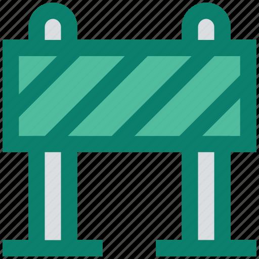 barrier, block, construction, road, road block, stop, under icon