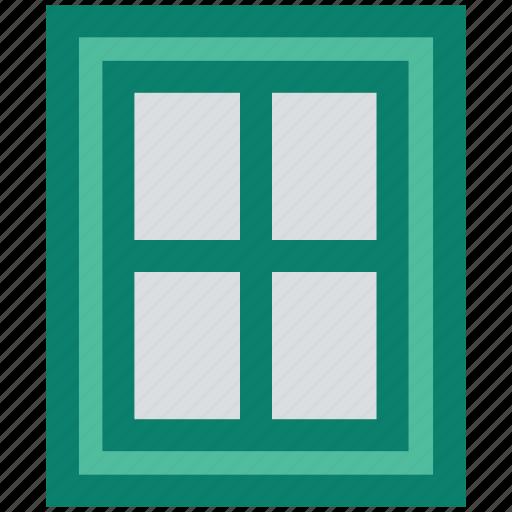 build, construction, equipment, glass, wall, window icon