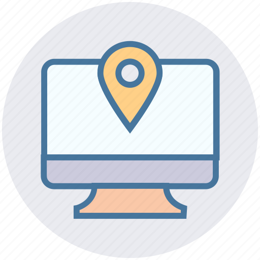 Construction, gps, lcd, location, map pin, navigation, screen icon - Download on Iconfinder
