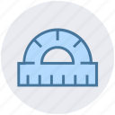 angle, construction, measure, ruler, scale, tool icon