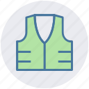 construction vest, construction waistcoat, jacket, protection jacket, reflective vest, safety vest icon