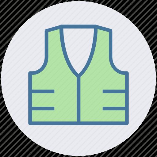 construction vest, construction waistcoat, jacket, protection jacket, reflective vest, safety vest icon