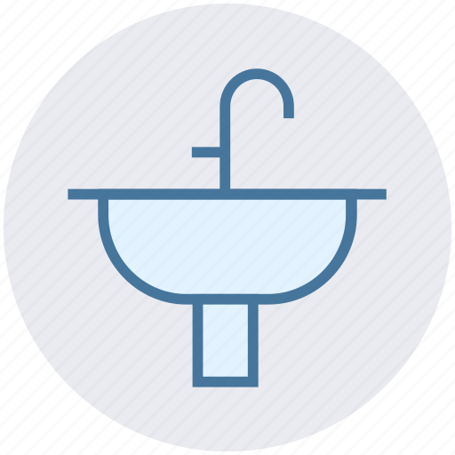 bathroom, construction, interior, sink, wash, water icon
