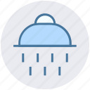 bath, bathroom, construction, drops, shower, shower head, water icon