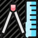 measure, ruler, divider