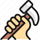 tools, hammer, hold