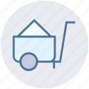 barrow, cart, construction, garden trolley, hand cart, hand truck, trolley icon