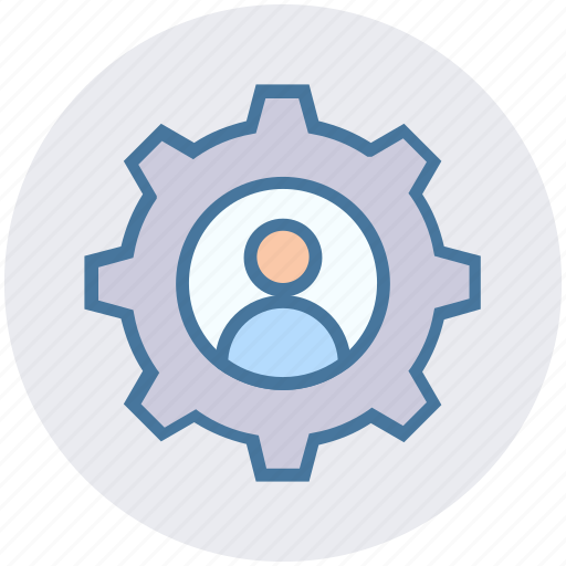 cogwheel, construction, gear, gear wheel, options, person, setting icon