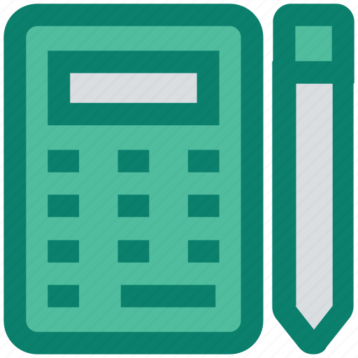 calculation, calculator, construction, math, pencil, tool icon
