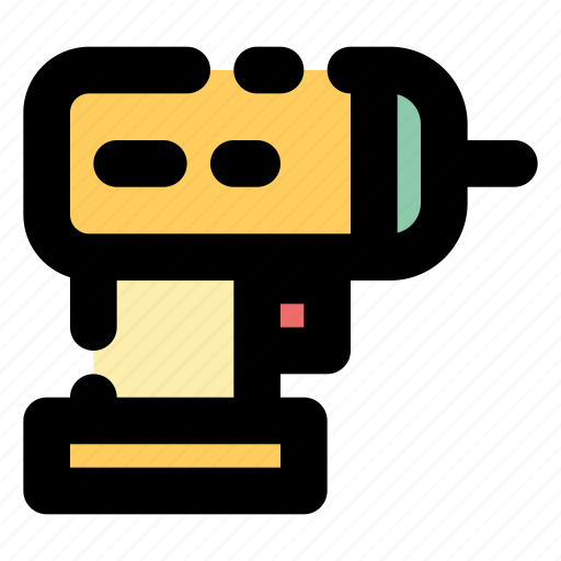 Cordless drill, drill, construction icon - Download on Iconfinder