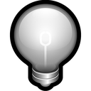 alert, bulb, idea, off, think icon