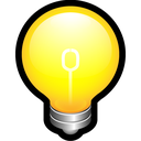 alert, bulb, create, idea, on, think