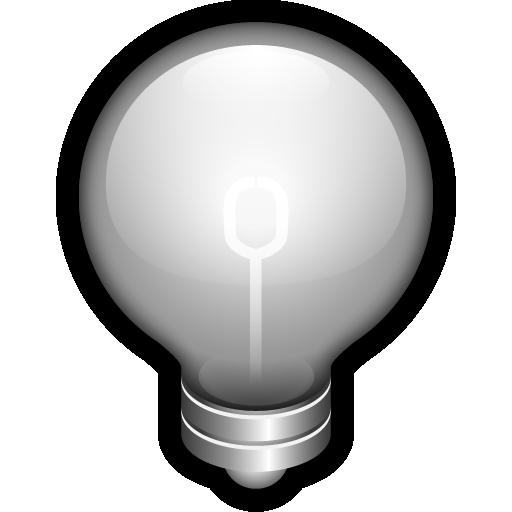 alert, bulb, idea, off, think icon