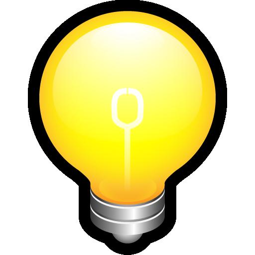 alert, bulb, create, idea, on, think icon