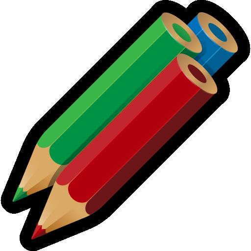 artwork, color, drawing, pencils, write icon