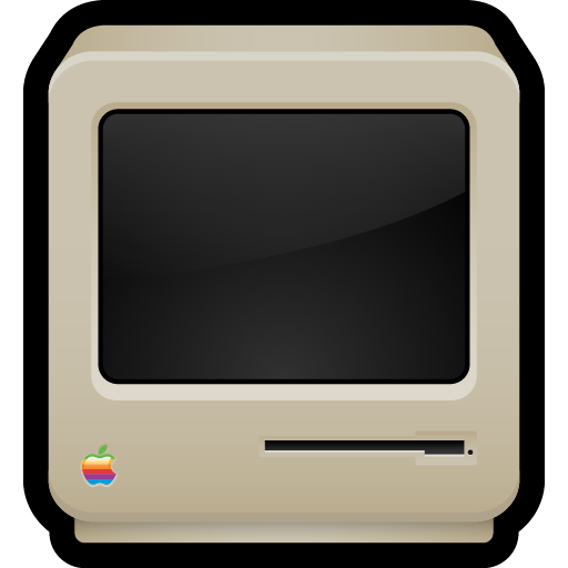 classic, computer, crt, macintosh, old icon