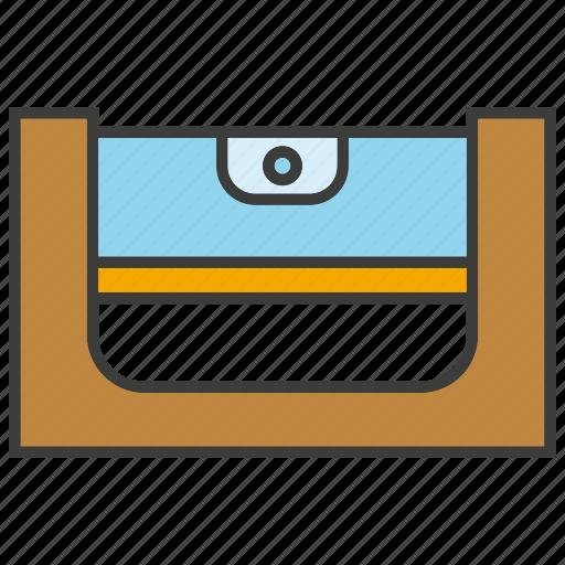 bubble level, gauge, measure, scale, tool icon