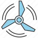 energy, power, turbine, ventilator, wind icon