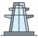 electricity, generator, pole, power tower, voltage icon