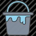 bucket, water