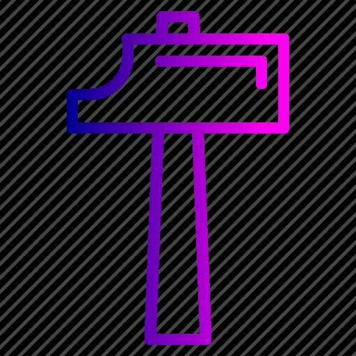 construct, equipment, hammer, sharp, timber, tool icon